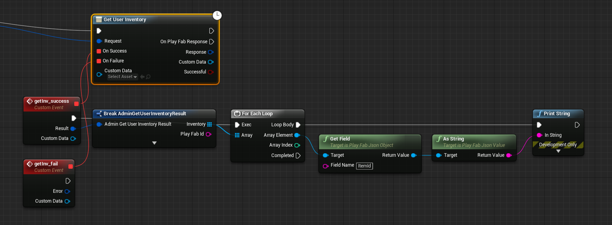UE4 Blueprints What to do with the results object of an API