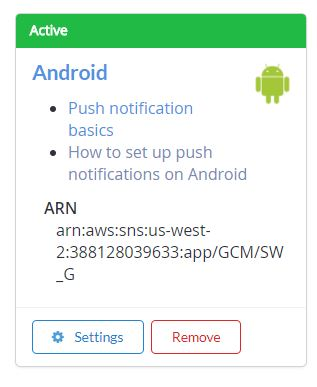 Android Push Notifications - Invalid Parameter: Name Reason