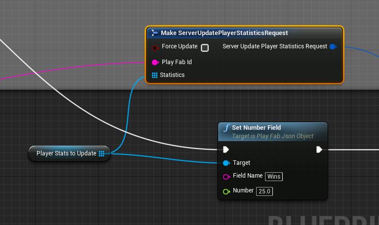UE4 Blueprint - Setting player statistics (Server side) - Playfab